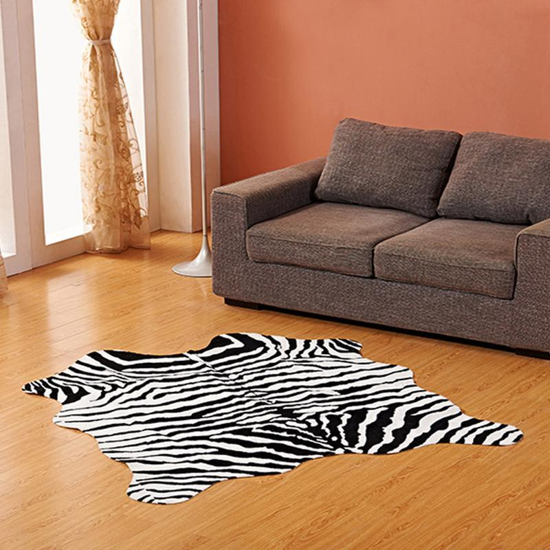 imitated animal skin zebra cow pattern floor mat room bedroom carpet rh dhgate com