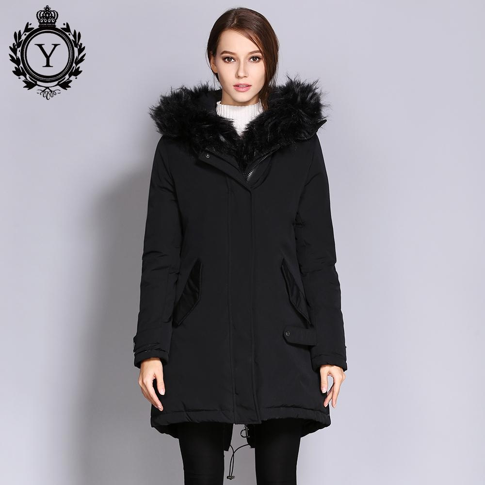 c574df7418a41 2019 2018 Ukraine Women S Parkas Faux Fur Coat Female Winter Long Jacket  With A Hood Women Clothing Thick Warm Outwear Overcoats From Johnnyyan