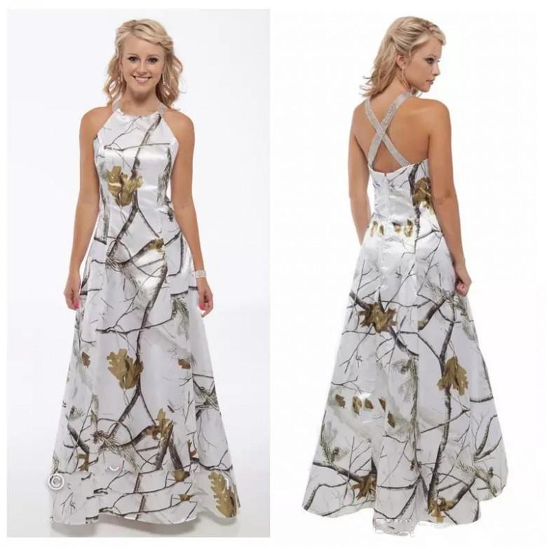 Vintage Camo Wedding Dresses 2019 Cheap Sweep Train Criss Cross Back Bridal Gowns Beaded Custom Made Vestidos De Mariage