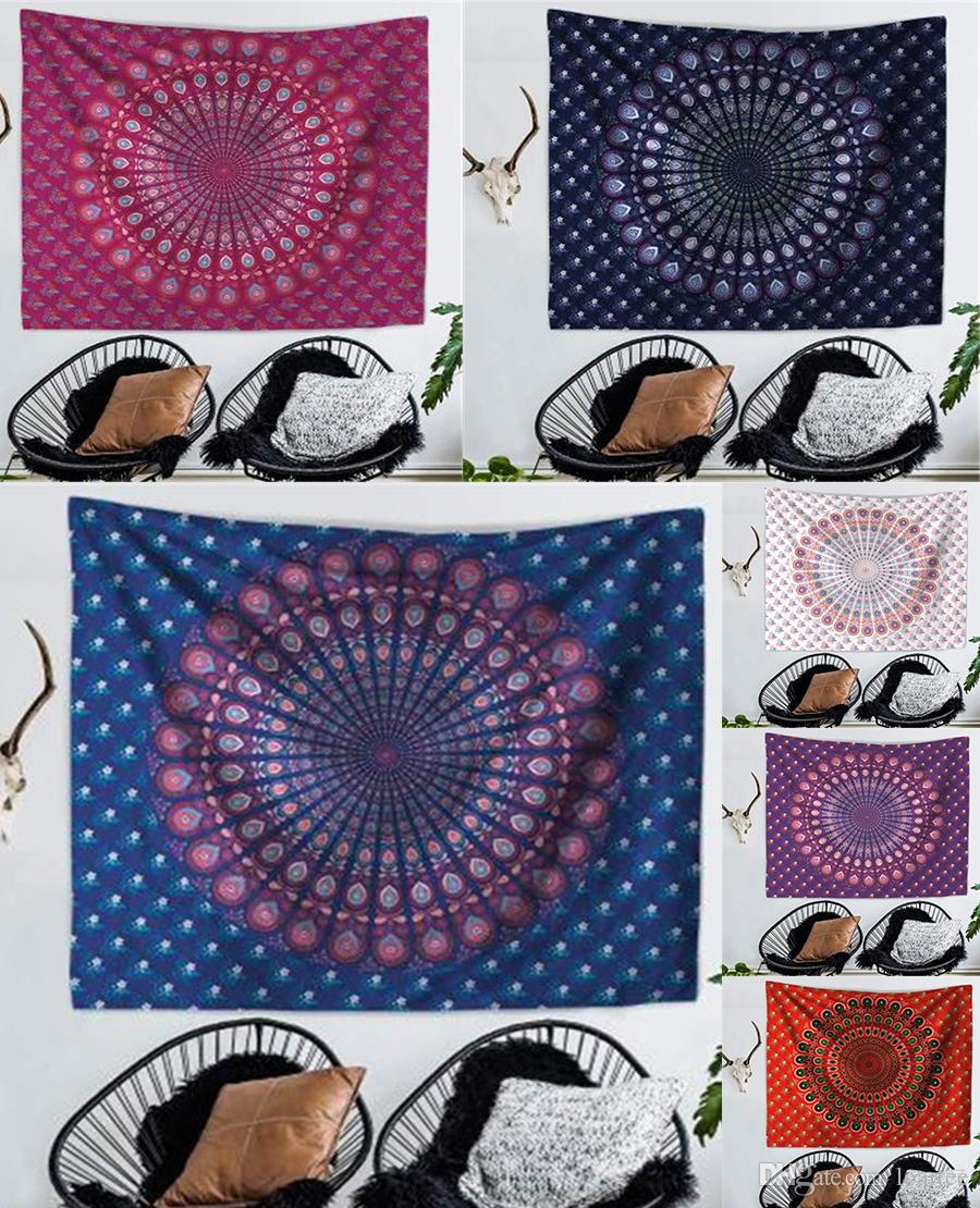 200x150cm mandala peacock pattern print mandala tapestry wall rh dhgate com