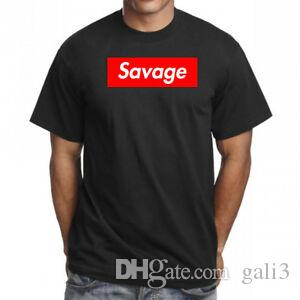 Savage Red Box Logo T Shirt Hip Hop Tee RoFashion Star Merch Rap Esketit Nuovo