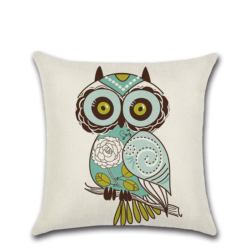 Cartoon Owl Bird Cushion Cover Party Decor Chair Car Shop Seat Home Sofa Decoration Kids Bedroom Friend Gift Present Pillow Case