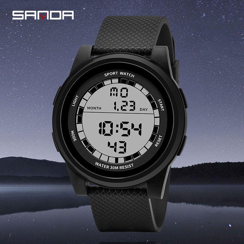 27e1da31b 2019 New SANDA Super Slim Digital Watch Men Waterproof 3ATM Men's Watches  Ultra Thin Military Sport Watch Relogio Masculino black watches