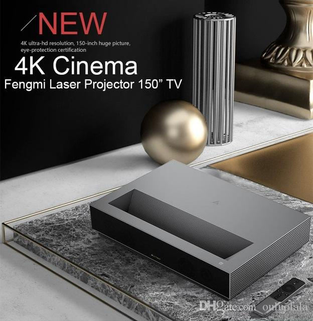 2019 New Feng Mi native 150 Inch 2 4G/5G 2GB 64GB MIUI TV HDR10 Dobby DTS  ultra short focus 3 drrival 4k 3840*2160p 7000 lumens 4k projector