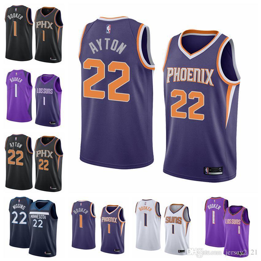 new products 4e890 d6f6d 2019 New Phoenix Devin Booker Suns Men Jersey City DeAndre Ayton Edition  Swingman White Fanatics Branded Fast Break Jersey Purple