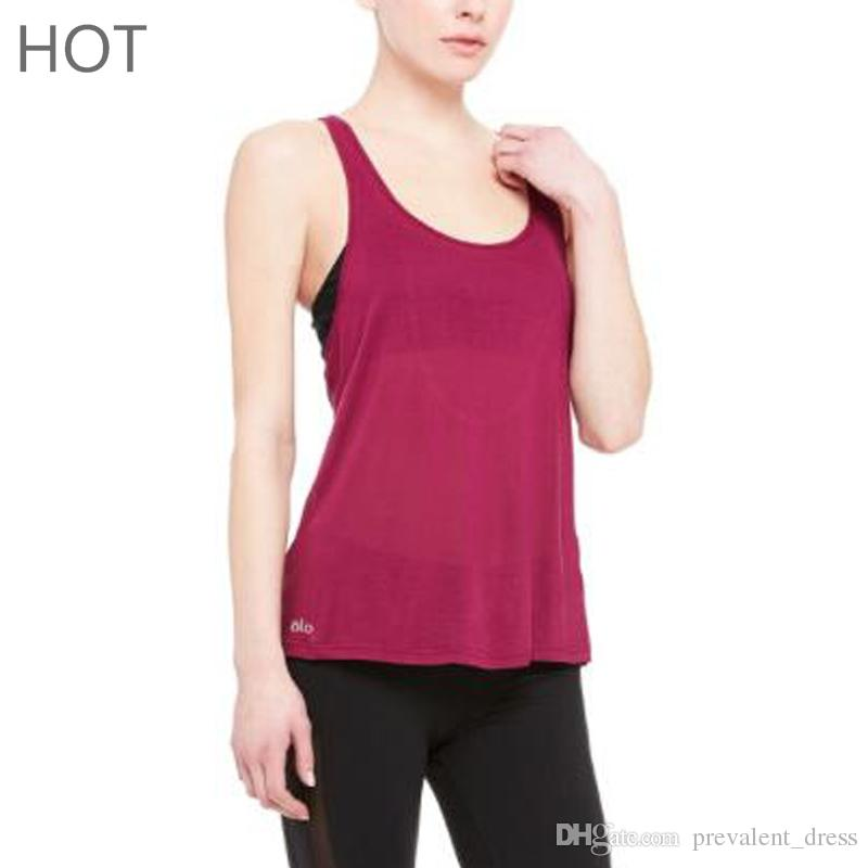 6aefba46847d50 2019 Female Sport Tank Tops Sexy Back Style Womens Workout Tops Sleeveless  Hollow Out Back Sweat Apparel Sportswear Women Vest From Prevalent dress