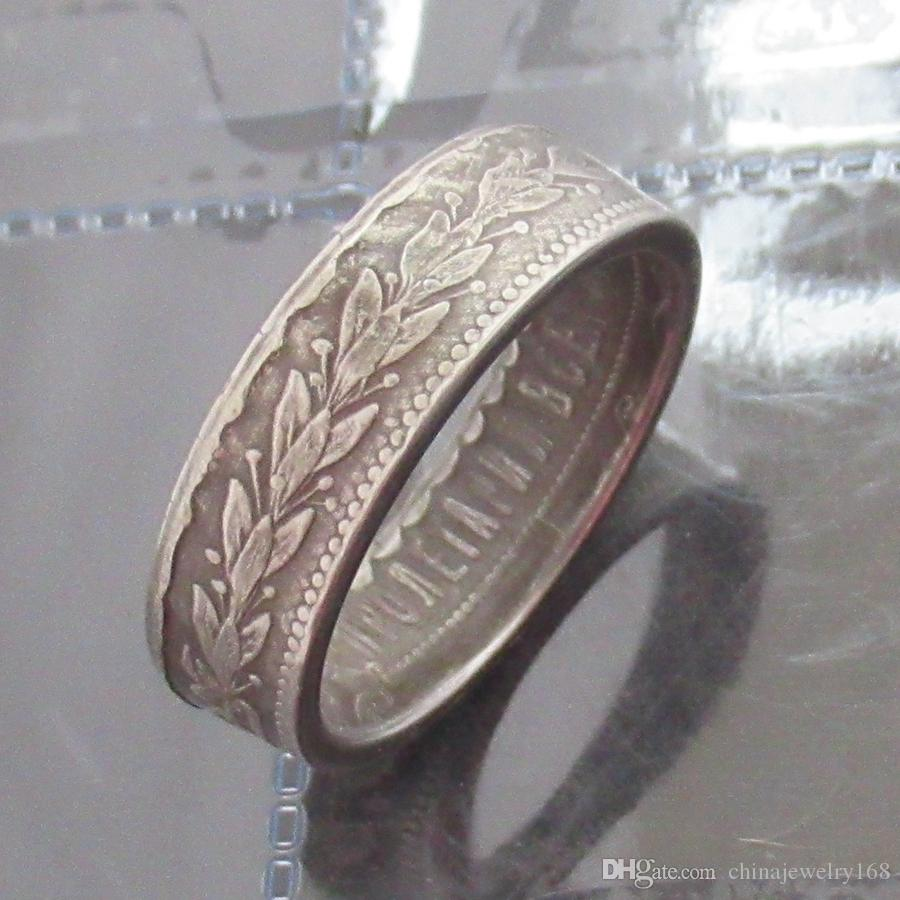 e3f62e62a7683 Vintage Jewelry Coin Rings Handmade from Russian Coin Vintage Silver Plated  Lucky Coin