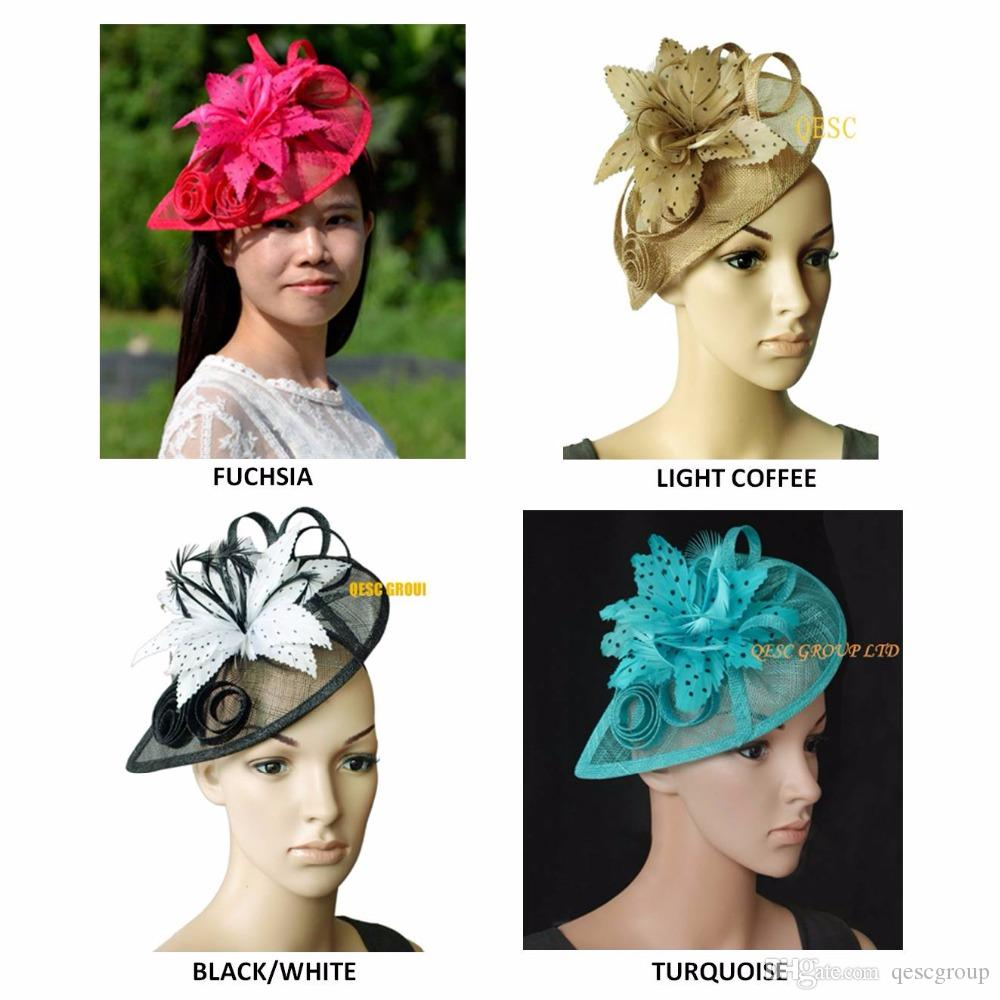 New Arrival Sinamay Fascinator Bridal Wedding Hat For Kentucky Derby  Race.Coral f23678b7a60