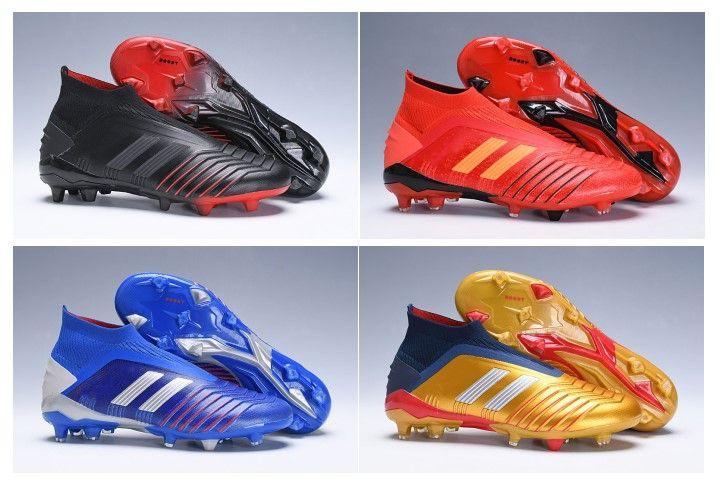 c07484eb8 2019 New Predator 19+ Predator FG Mens Women Kids Youth Soccer Football  Shoes 19+ Cleats Boots High Cheap Size 35-45