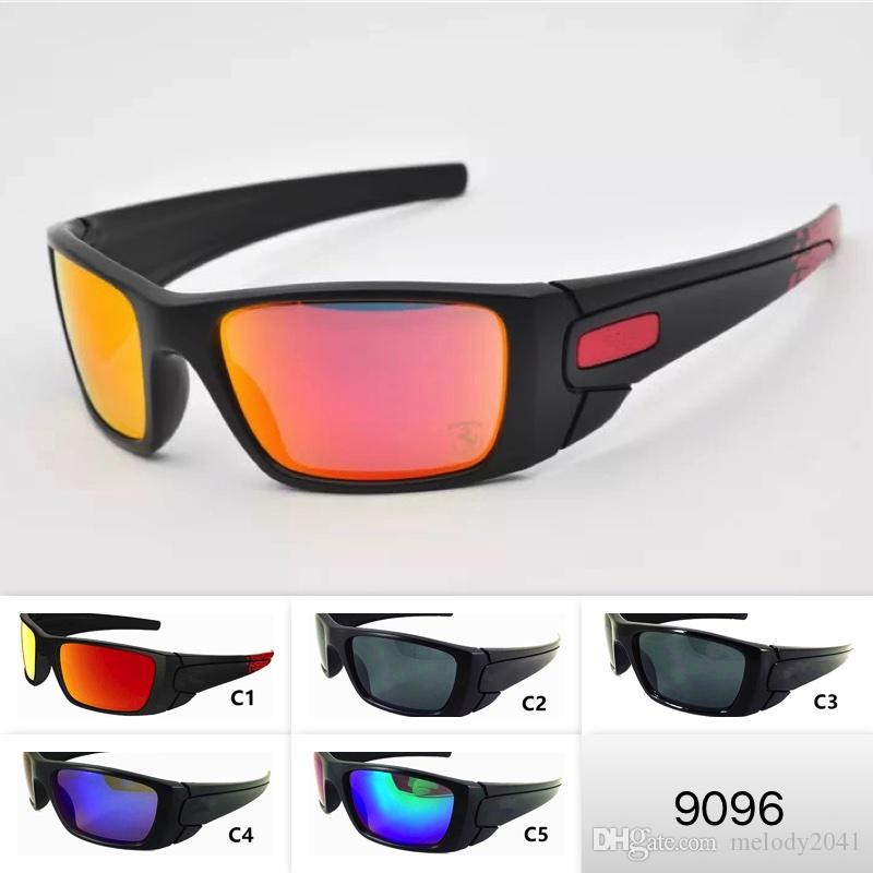 5 Colors Mens Sports Sunglasses Cool Big Frame Outdoor O Eyewear 9096 Motorbike Eyeglasses Unisex Sun Glasses Cycling Eyewear