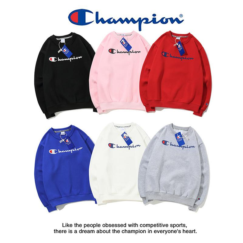 6 colors Champ letters printed hoodies Autumn Winter Men Women Luxury long sleeve Sweatshirts Cotton Hooded sweater with Cashmere coats
