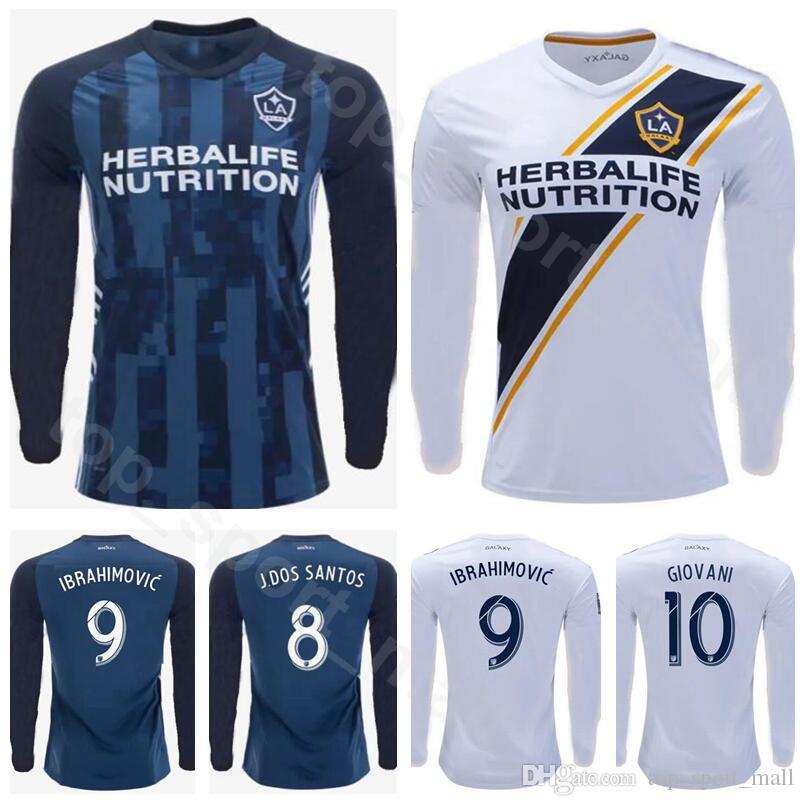 buy online d4101 76ffc 19-20 MLSMen Soccer MLS Los Angeles LA Galaxy Long Sleeve J.DOS SANTOS  Jersey STERES 17 LLETGET 12 PONTIUS Football Shirt Kits Uniform