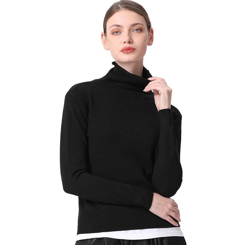 2019 neuer Kaschmirpullover mit Rollkragenpullover 6colors 1size Frühlingskleidung für Frauen