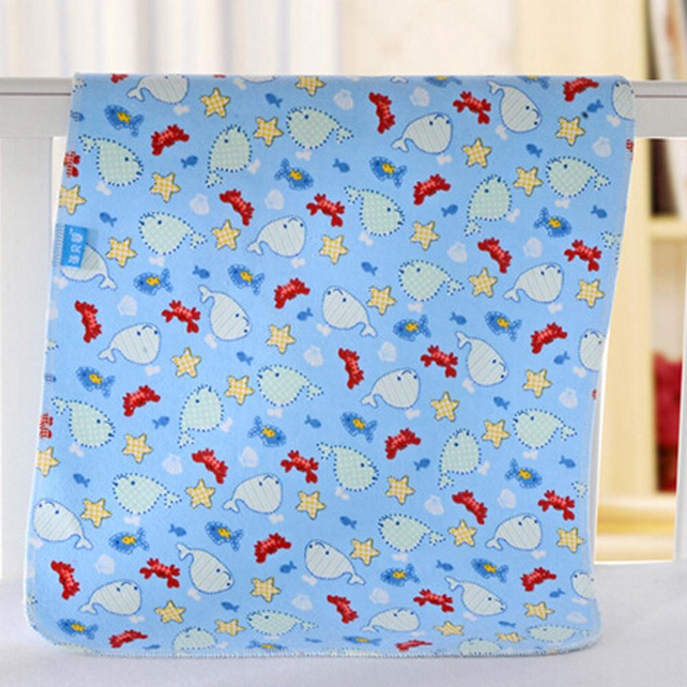 Baby Children's Urine Pads Double Flannel Girls Boys Waterproof Bamboo Fibers Towel Breathable Absorbent Diaper Pad