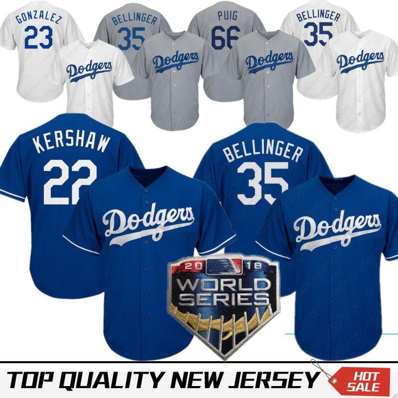 watch e4fd4 165d1 22 Clayton Kershaw Los Angeles Dodgers Baseball Jersey 35 Cody Bellinger 66  Yasiel Puig 3 Chris Taylor 5 Corey Seager 14 10 Justin Turner