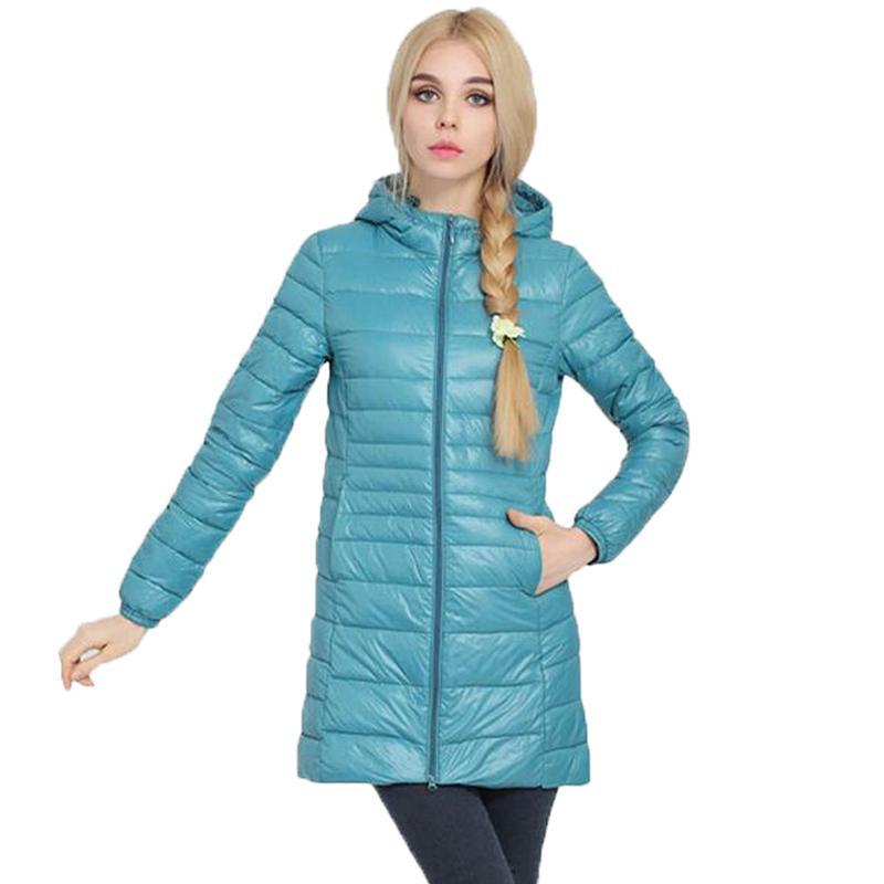 446051735 Women Hooded Parka New Brand Winter Ultra Light Coats Womens Long Down Plus  Size 4xl 5xl 6xl Jackets Ladies Outwear Duck Parkas
