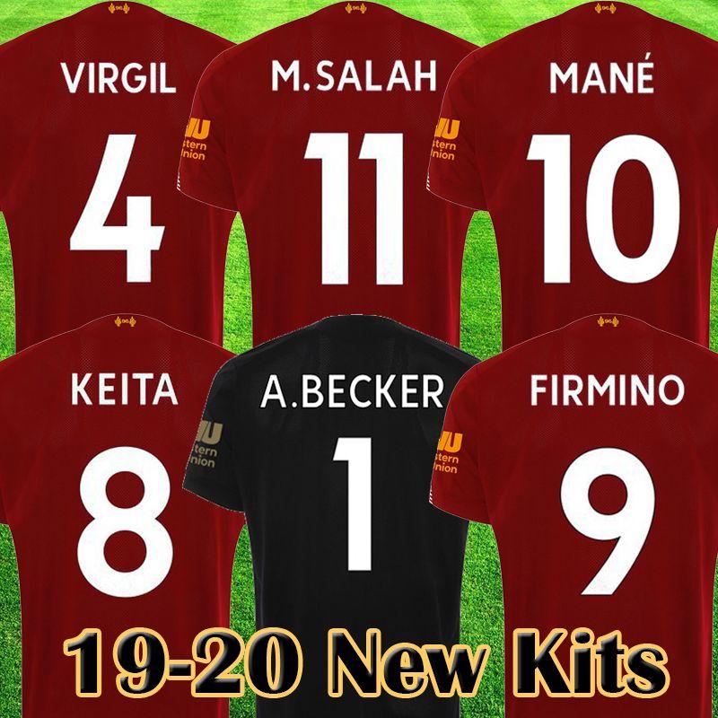 more photos b50c9 9f57b Mohamed Salah 2019 2020 soccer jersey MANE Tops VIRGIL football shirt KEITA  camiseta FIRMINO Kits ALISSON BECKER long sleeve Black maillot