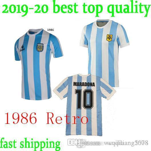 745bc1a5a 2019 Top 1986 Argentina Retro Soccer Jersey Maradona 1986 Vintage Classic  78 Argentina Maradona 1978 Football Shirts Maillot Camisetas De Futbol From  ...