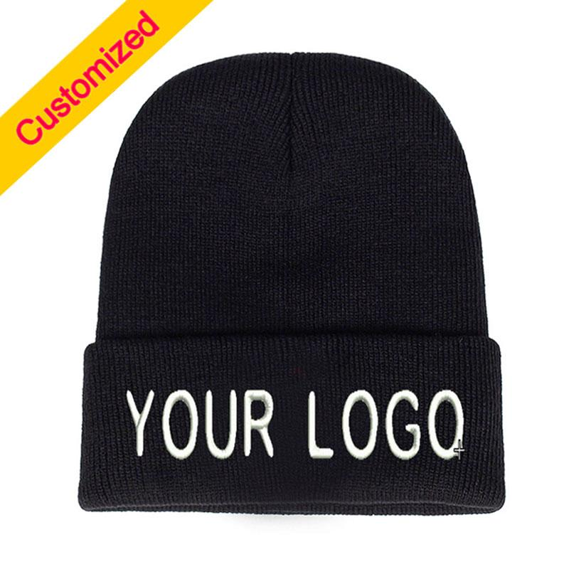 a4ea1121 Personalized Custom Beanie Hat Skullie Cap Slouchy Winter Autumn Embroidery  Logo Choose Your Quote Name Design Text Thread Color