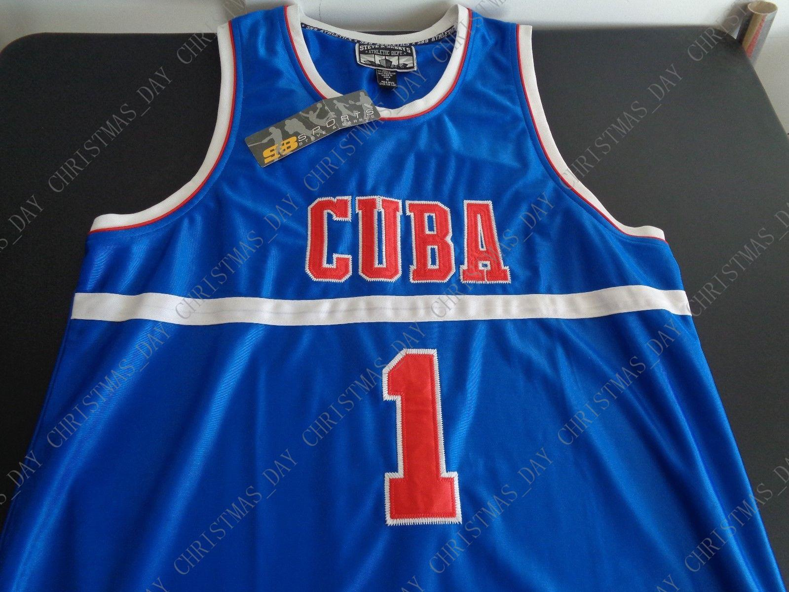uk availability 41a75 6122f Custom CUBA National Basketball Team STEVE & BARRY S Sewn NEW Jersey MEDIUM  Free Stitched Customize any name number MEN WOMEN YOUTH JERSEY