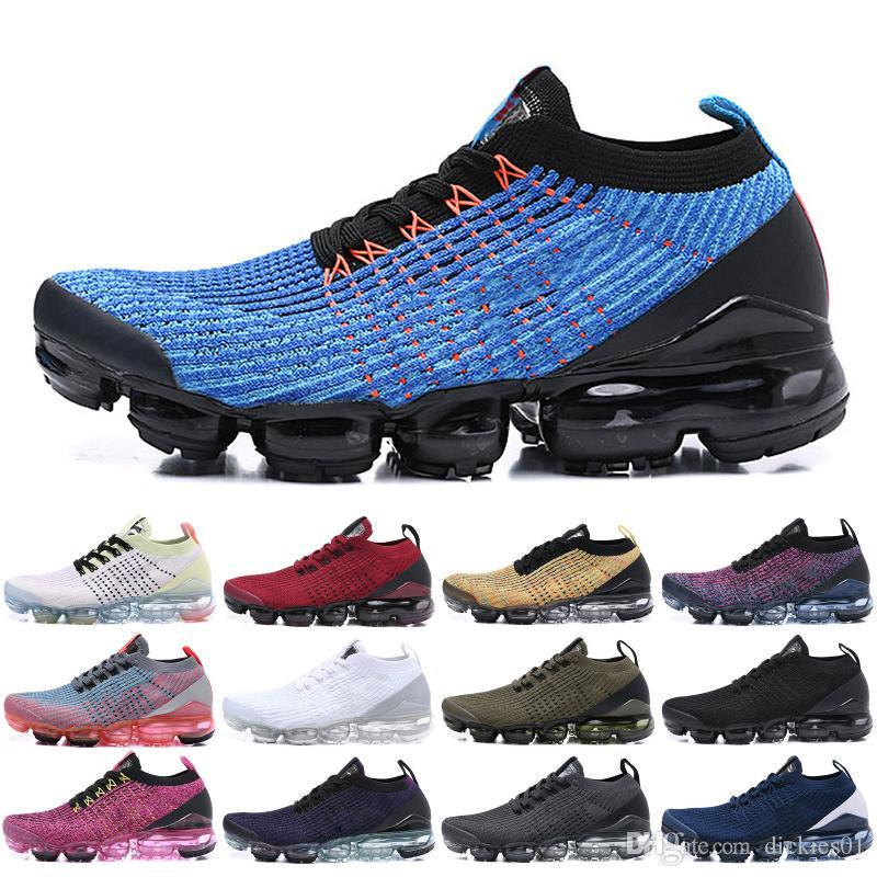 f0949fc997 Compre Nike Flyknit 2019 3.0 Top Fly 3.0 Hombres Mujeres Zapatos Corrientes  Triple Negro Blanco Azul Punto Nuevo 3s Jogging Zapatillas De Deporte De  Diseño ...