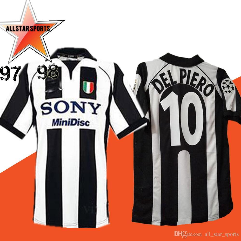 new arrival 3b677 bbb63 97/98 Retro version RONALDO Soccer Jersey 1997/1998 #10 DEL PIERO #9  INZAGHI #21 ZIDANE #26 DAVIDS Italia Champions League football Shirt