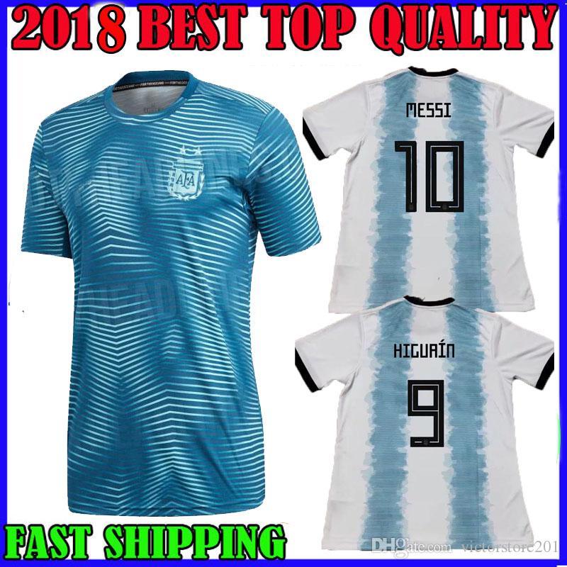 Compre Argentina 2019 Copa América Casa Camisa De Futebol Messi 19 20  DYBALA ICARDI HIGUAIN DI MARIA Camisas De Futebol PRÉ MATCH CAMISA De  Victorstore201 8403aa055b09c