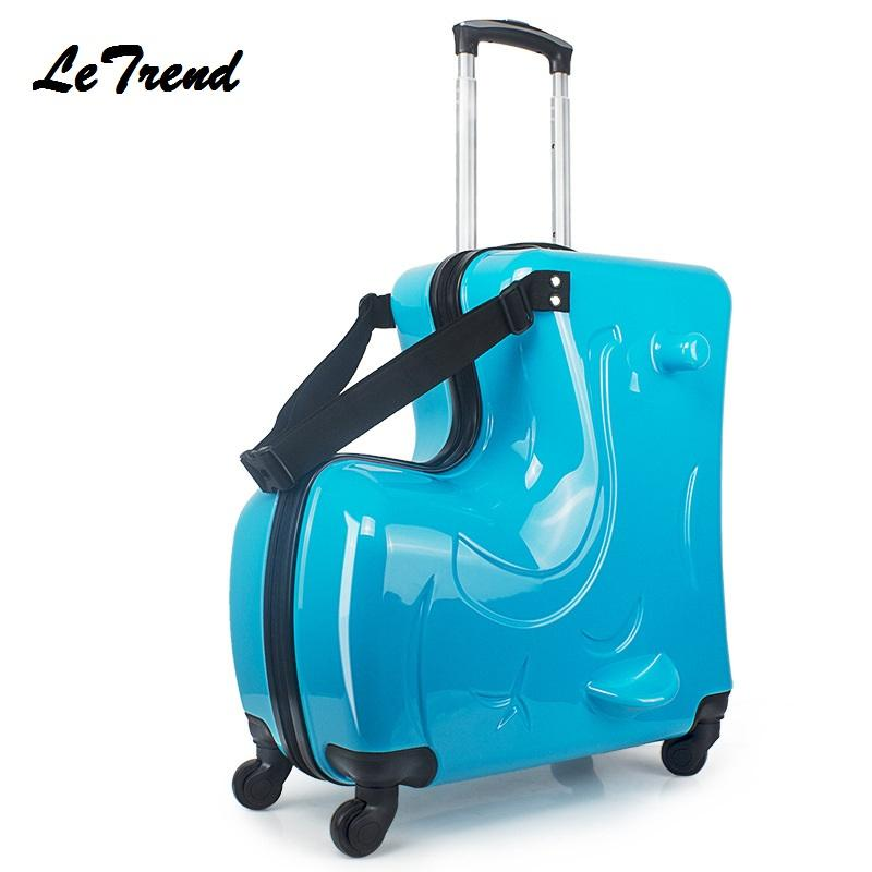 3717ec5df9bf New Children Rolling Luggage Spinner 20 inch Wheels Suitcase Kids Cabin  Trolley Student Travel Bag Cute Baby Carry On Trunk