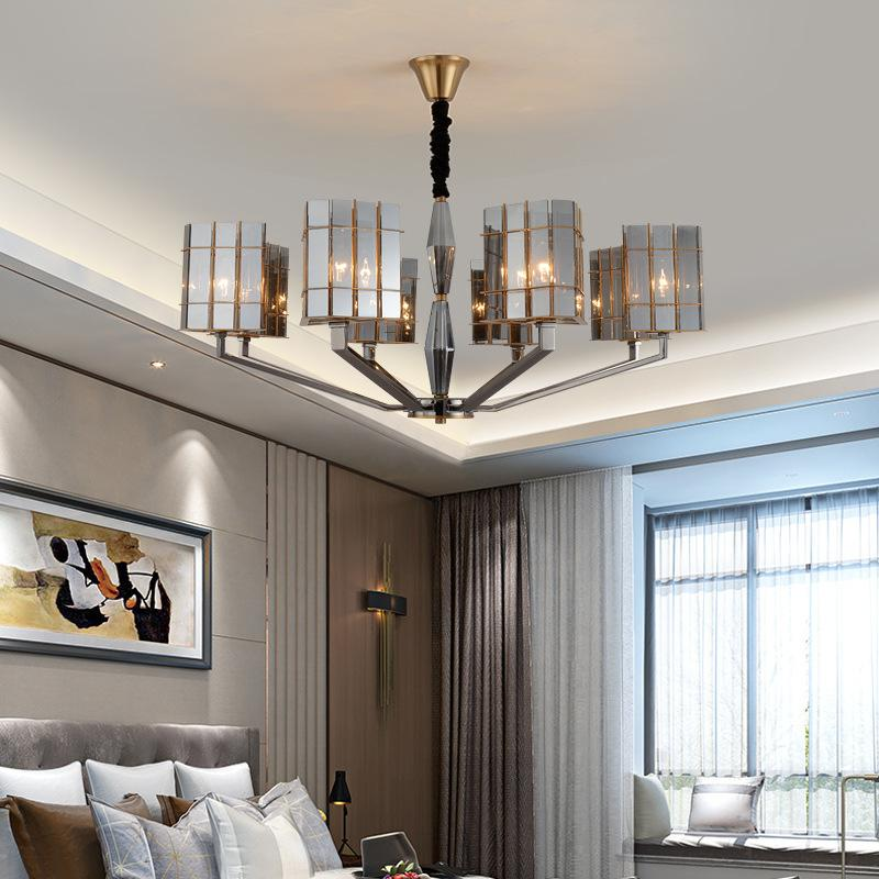 Chandelier L Art Deco Dining Lamp ModernLiving Room Lustres Decoration Resin Pendants Chandeliers Home Lighting Modern Candle From