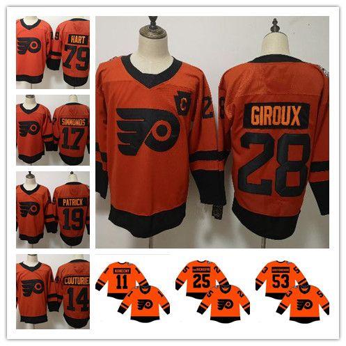 2019 Stadium Series Philadelphia Flyers Jersey Claude Giroux Shayne ... 5ee11f5f2
