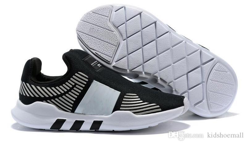 purchase cheap e18d3 406c6 With Box Kids Eqt Running Shoes for Boys Sneakers Girls Athletic Child  Sports Children Jogging Teenage Slip on Walking Size 26-35