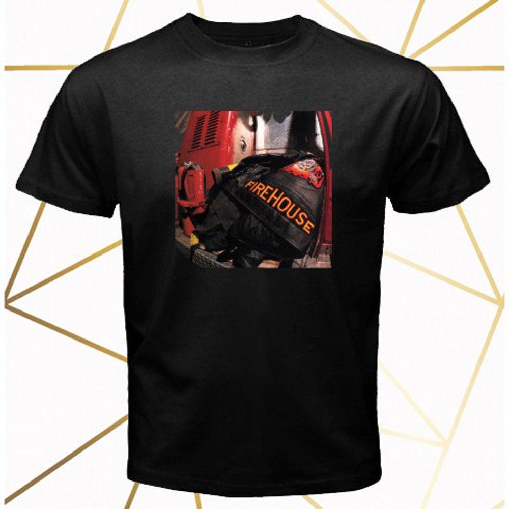 Firehouse Band Hold Your Fire Album Cover Men s Black T-Shirt Size S-3XL