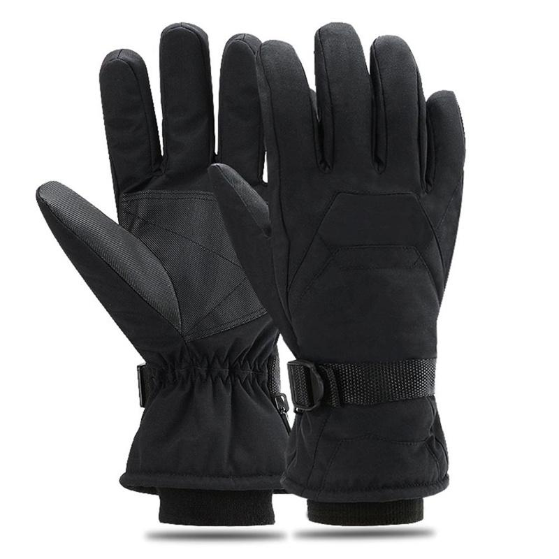 62bda5262 2019 Men's Ski Gloves Fleece Snowboard Gloves Snowmobile Motorcycle Riding  Winter Windproof Waterproof Unisex Snow
