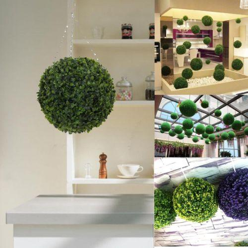 Artificial 12cm Plants Boxwood Buxus Topiary Balls Grass Plant Chain Hanging Artificial Plants 20/25CM