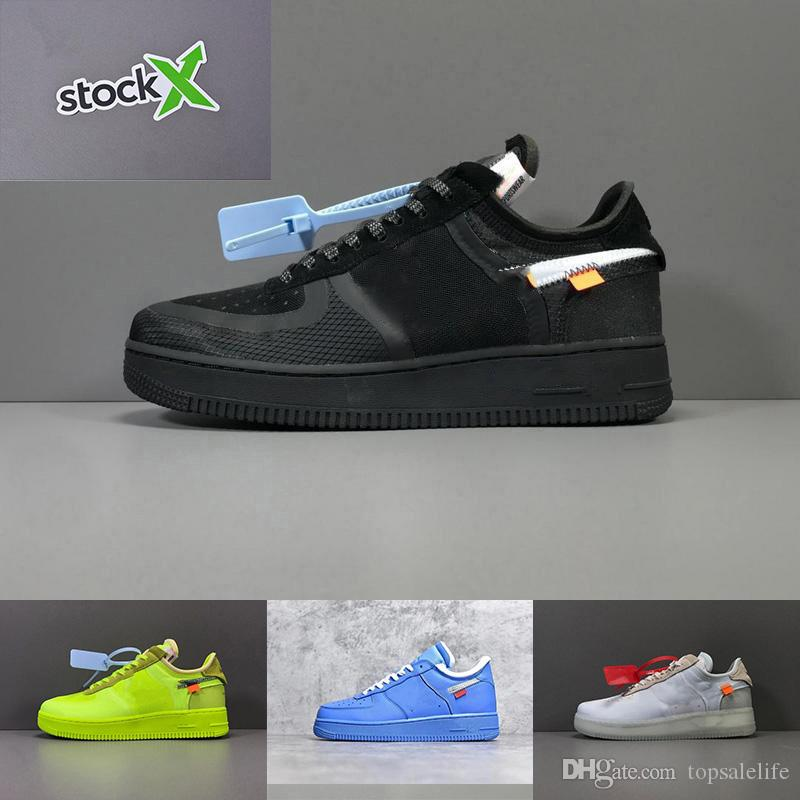 2019 DHL Free Shipping With Shoebox Best Quality White Stock X AF 1 Forces Low Off Running Shoes Trainers US5.5-13
