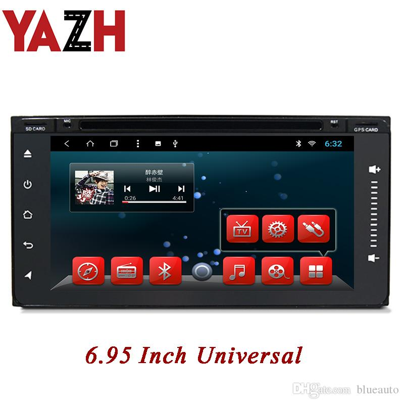 YAZH 2 Din Car DVD In dash gps navigation dvd player For Toyota old corolla fortuner Camry Corolla Prado 6.95 inch full touch screen