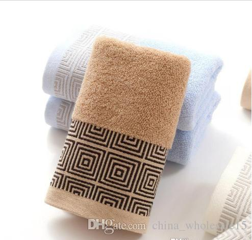 8fe44b052df10 ACI-196 34x74cm 100% Cotton Absorbent Solid Color Soft Comfortable Top  Grade Men Women Family Bathroom Hand Towel
