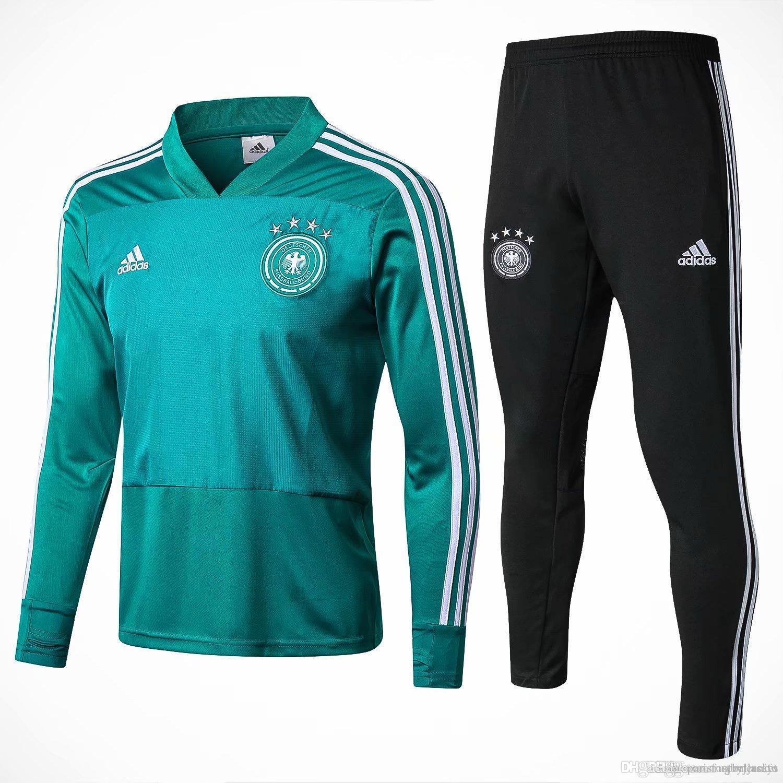Compre Nueva Chaqueta Alemania 18 19 Müller Draxler 2018 2019 Hogar Chándal  Camiseta De Fútbol Traje De Entrenamiento Ozil Reus A  24.37 Del ... 488a3575728cf