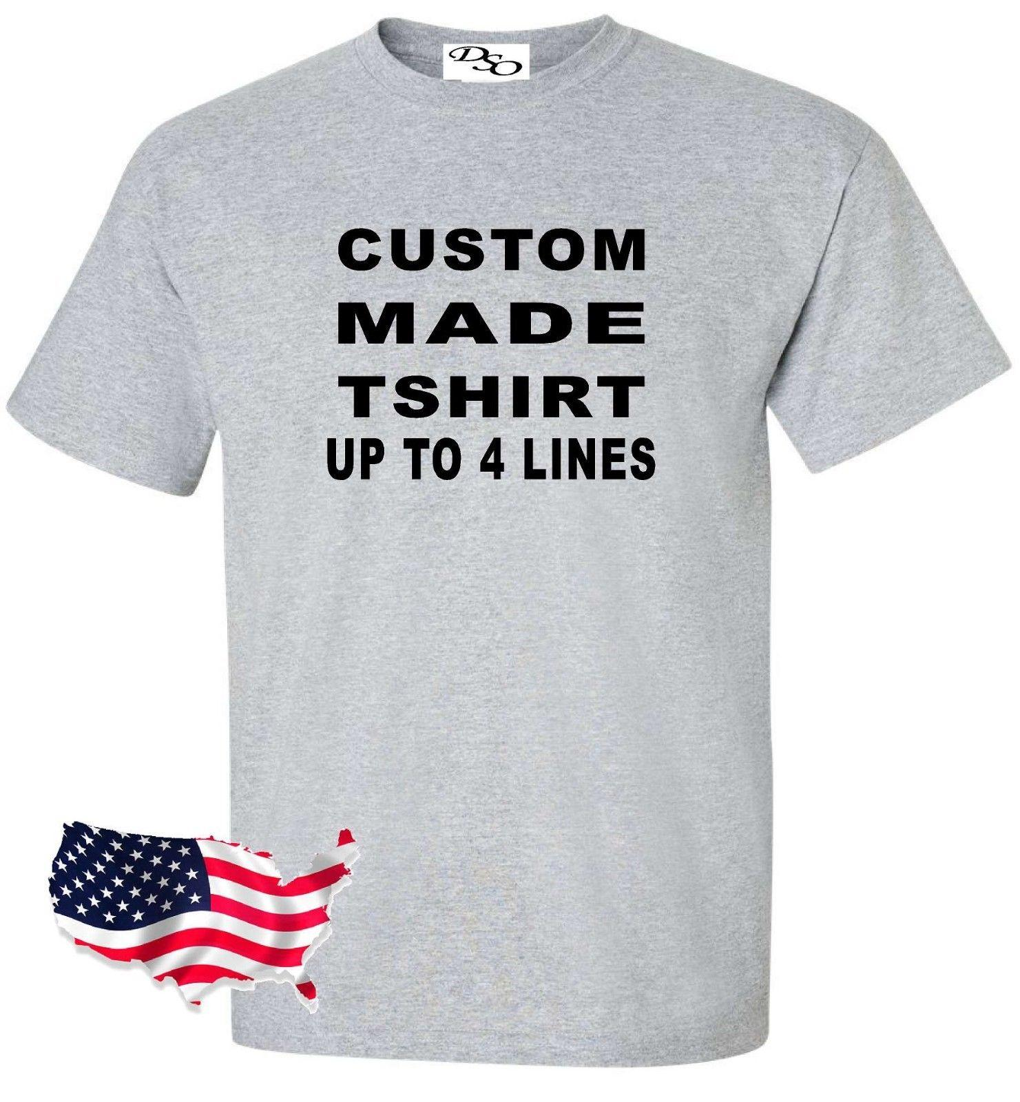 bffa0216f5c Made Shirt Make Your Own Personalized 16 Tee Colors SM 6X High Quality  Custom Printed