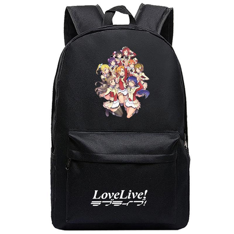 334798ff89072 Satın Al Öğrenciler Için Özelleştirilmiş Okul Çantası Aşk Canlı Sırt Çantası  Lovelive Okul Idol Projesi Bookbag, $34.09   DHgate.Com'da