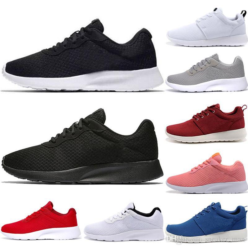 415c371494f63a Acheter 2019 Nike Roshe Run Tanjun Olympic London Sports Chaussures De  Course Pour Hommes Classiques Noir Blanc Rouge Confortable Léger Extérieur  Marche ...