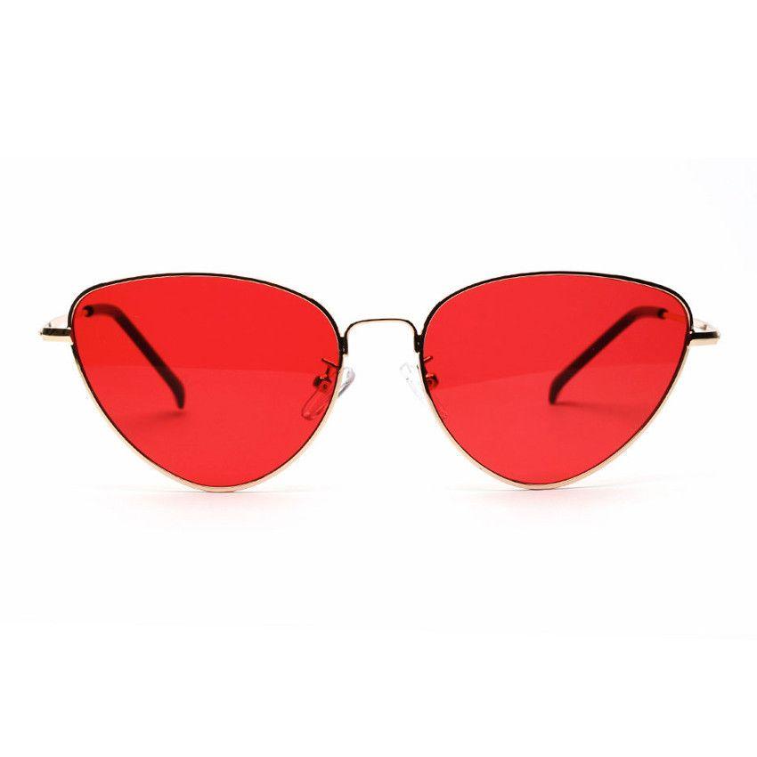 ad3f05460a4d 2019 Cat Eye Vintage Brand Designer Mirror Sunglasses Women Metal  Reflective Flat Lens Sun Glasses Female Oculos De Sol From G6241163