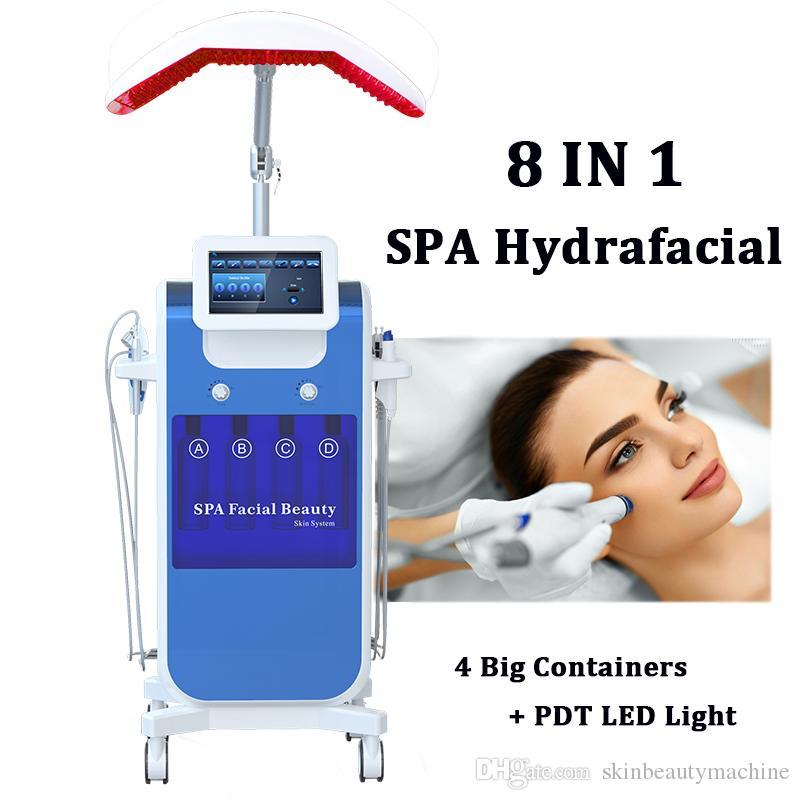 New Spa Hydrafacial آلة الوجه الجلدية الجلد الظهور الوجه الهادئة الوجه العلاج نظيفة الحيوية microlocurrent هيدرا microdermabrassion