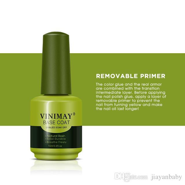 30pcs VINIMAY Nail Gel Magic Remover Soak Off Base Matte Top Coat Gel Nail Polish Gelpolish Nail Art Primer Lacquer Nails Salon 4 styles