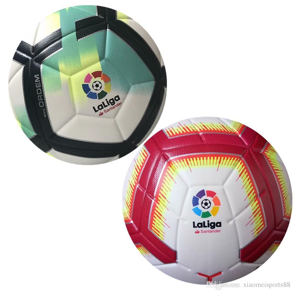 Compre 2018 Premier League La Liga Bundesliga Balones De Fútbol Merlin ACC  Football Particle Skid Resistencia Juego De Entrenamiento Balón De Fútbol  Tamaño ... 7e545430a79be