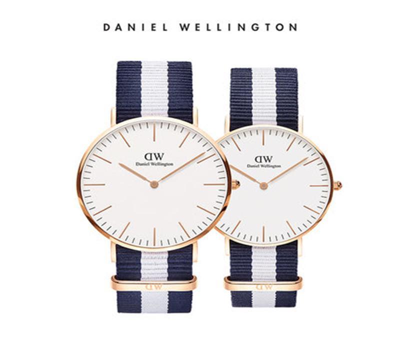 d22bd4fcc612 New 36mm Mens Daniel Wellington Dw Watches Men Luxury Brand Watch Women  36mm Fashion Quartz Watch Waterproof Leather Blue Nylon Belt Watch Watch  Sale ...