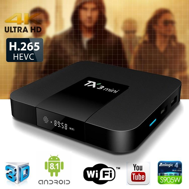 TX3 Mini Android 8.1 TV BOX 2GB 16GB Amlogic S905W Quad Core Smart TV Box 4K Media Player X96 Mini