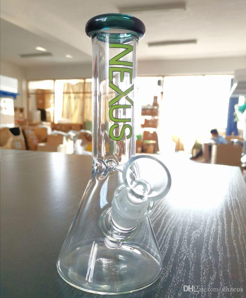 Dhzeus shop Glass bong oil rig Rick & Morty classic series beaker bong water bongs dab rigs with bowl