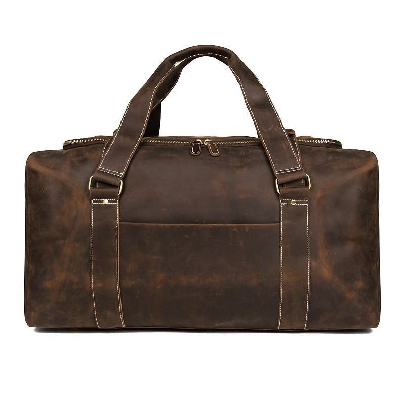 Band Design Genuine Leather Men'S Travel
