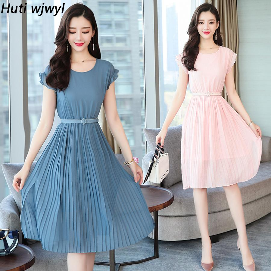 93a9124d7c06b 2019 New Korean Vintage Boho Dresses Summer Plus Size Solid Sexy Sundress  Elegant Women Beach Midi Bodycon Short Sleeve Vestidos Y19053001
